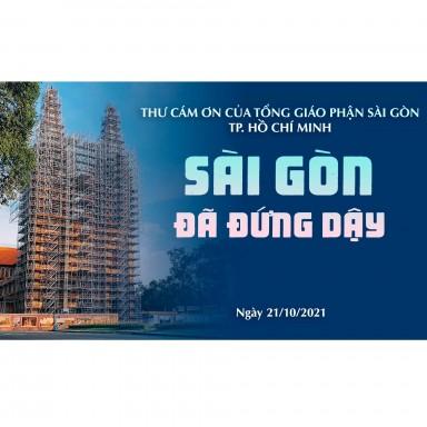 Sài Gòn đã đứng dậy: Thư cám ơn của Tổng Giáo Phận Sài Gòn