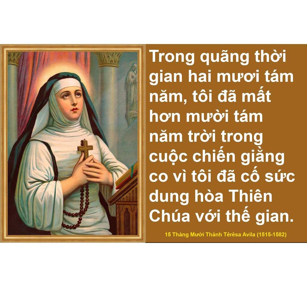 Châm ngôn của Thánh Têrêsa Avila (1515-1582)