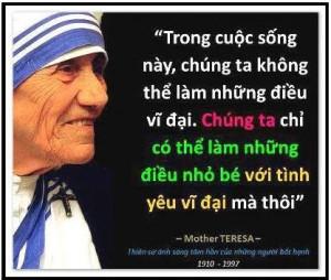 Danh ngôn của Mẹ Thánh Têrêsa Calcutta