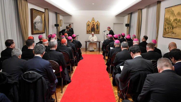 ĐTC gặp các Giám mục Nhật Bản