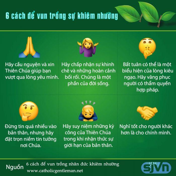 Sáu cách để vun trồng nhân đức khiêm nhường