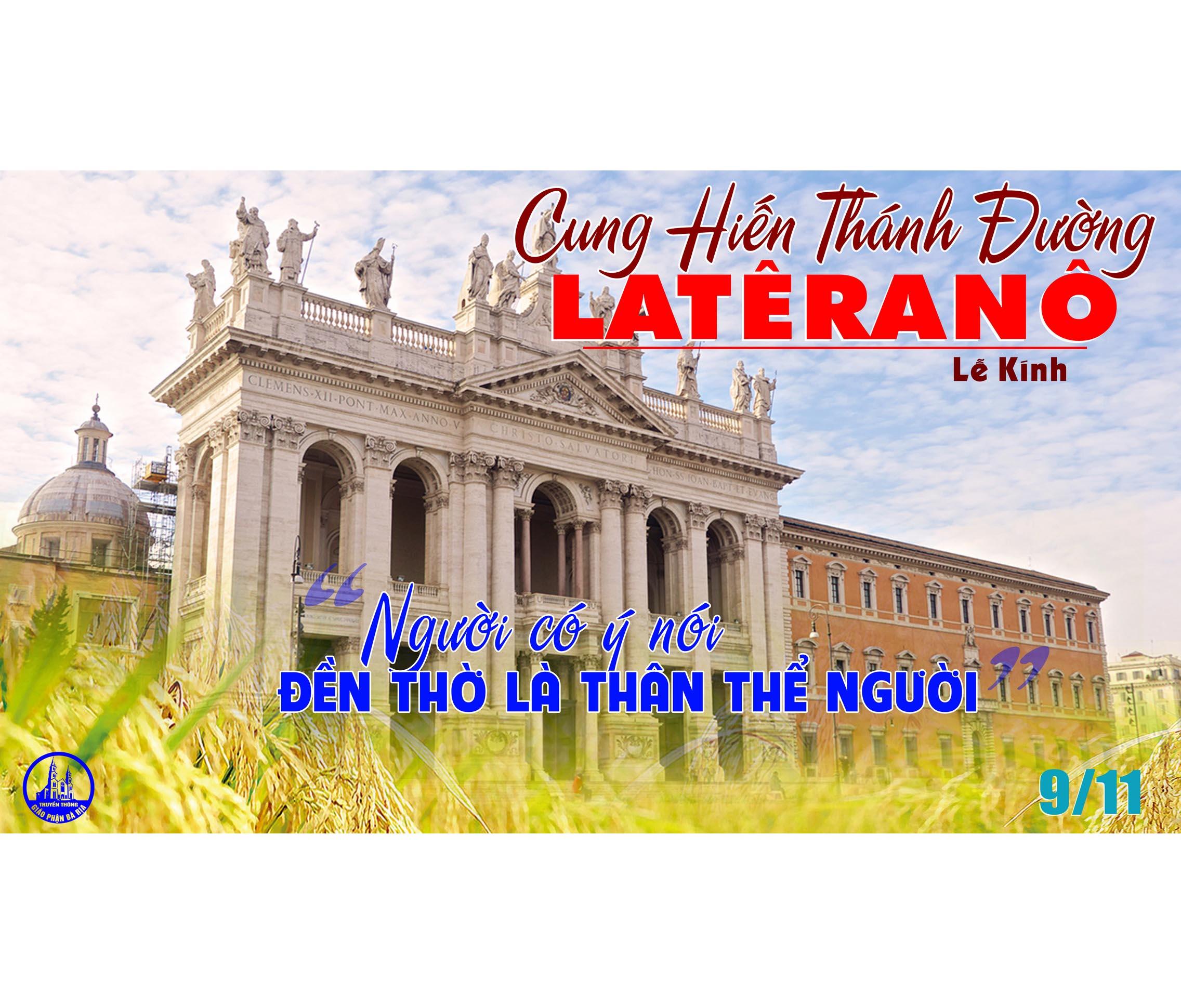 Tôi sẽ xây dựng lại (09.11.2020 – Thứ Hai: Cung hiến Thánh đường Latêranô)